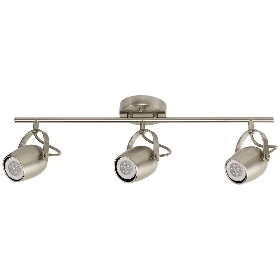 globe electric samara 3 light 23 62 in brushed nickel dimmable standard linear track lighting kit