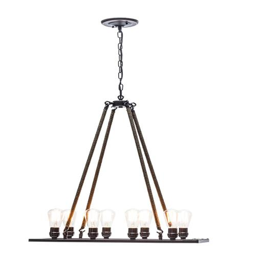 Globe Electric 8-Light Bronze/Oil Rubbed Industrial