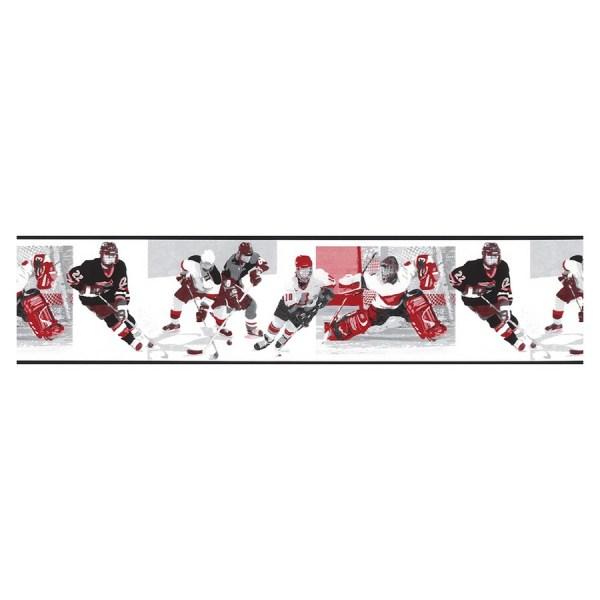 Shop Norwall Hockey Wallpaper Border at Lowescom