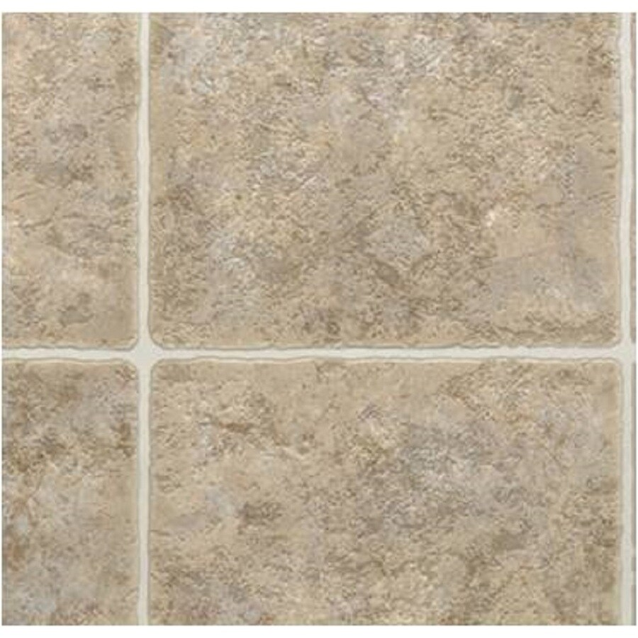 domco 12 w santa fe brown tile finish sheet vinyl in the sheet vinyl cut to length department at lowes com
