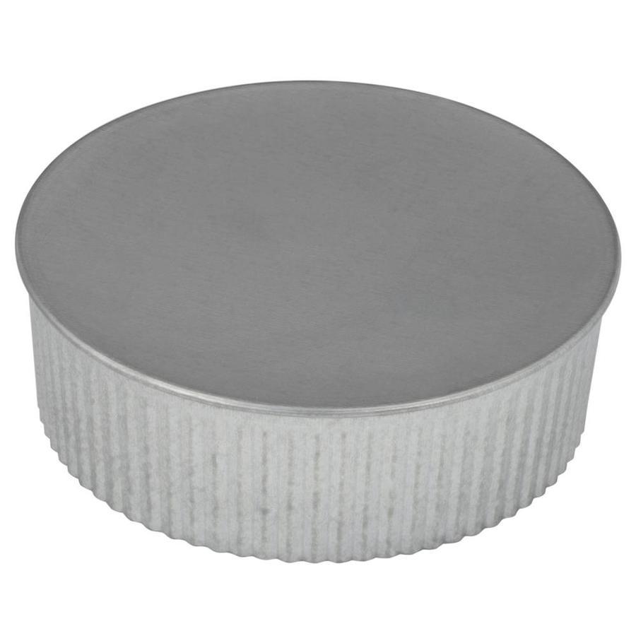 medium resolution of imperial 5 in dia galvanized steel round end cap