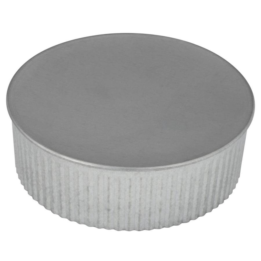 hight resolution of imperial 5 in dia galvanized steel round end cap