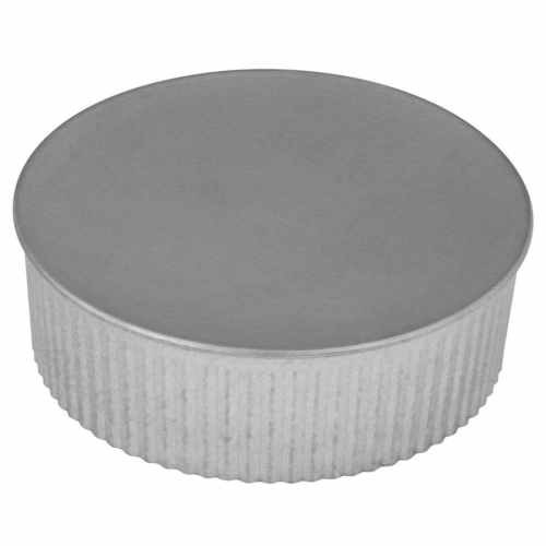 small resolution of imperial 5 in dia galvanized steel round end cap