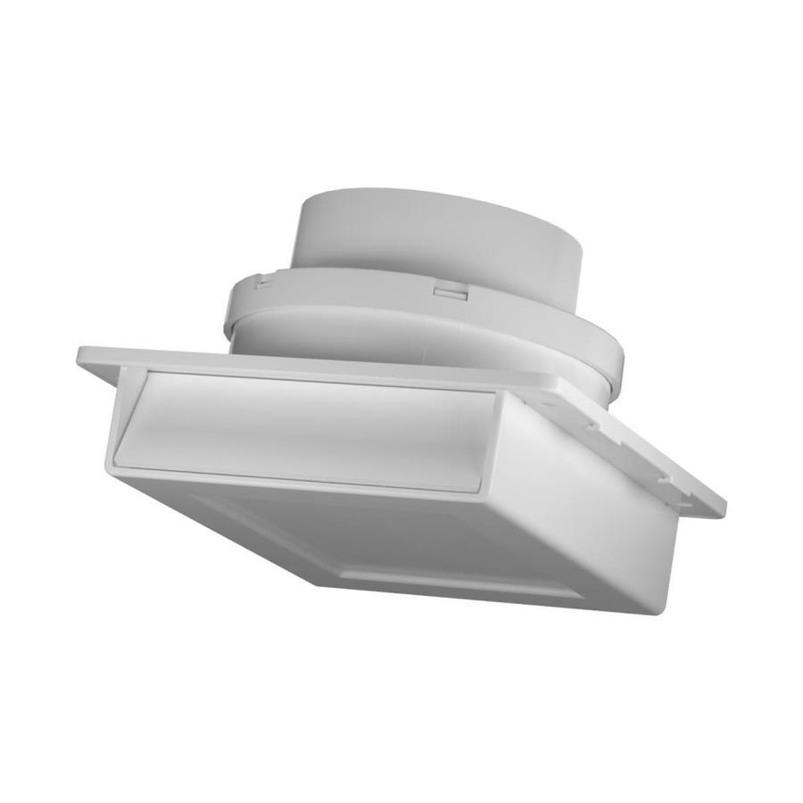 white plastic soffit vent