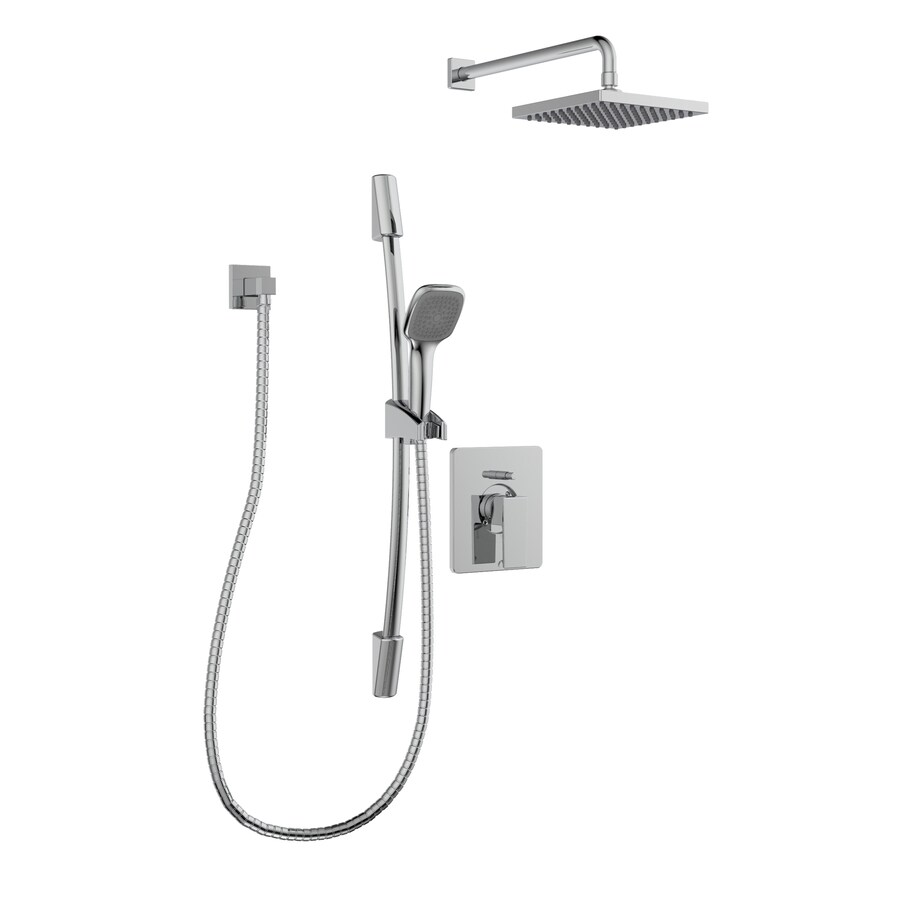 keeney quadrato polished chrome 1 handle shower faucet with valve