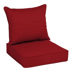 Cheap Seat Cushions For Chairs Sturdy Folding Patio Furniture At Lowes Com Allen Roth 2 Piece Cherry Red Deep Chair Cushion