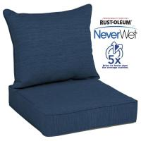 Shop allen + roth Neverwet 2-Piece Navy Deep Seat Patio ...