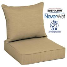 Allen Roth Neverwet 2-piece Wheat Deep Seat Patio Chair