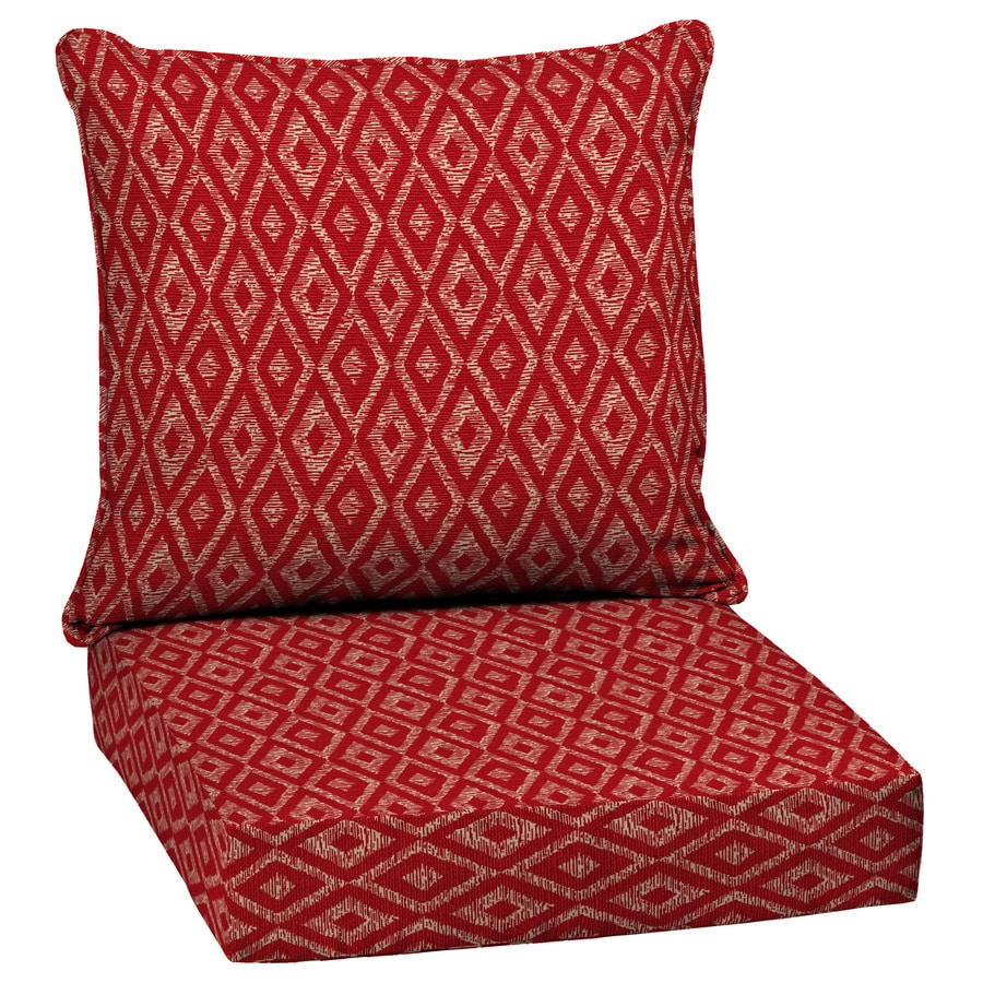 high back lawn chair cushions desk chairs staples uk shop garden treasures geometric deep seat patio cushion for at lowes.com