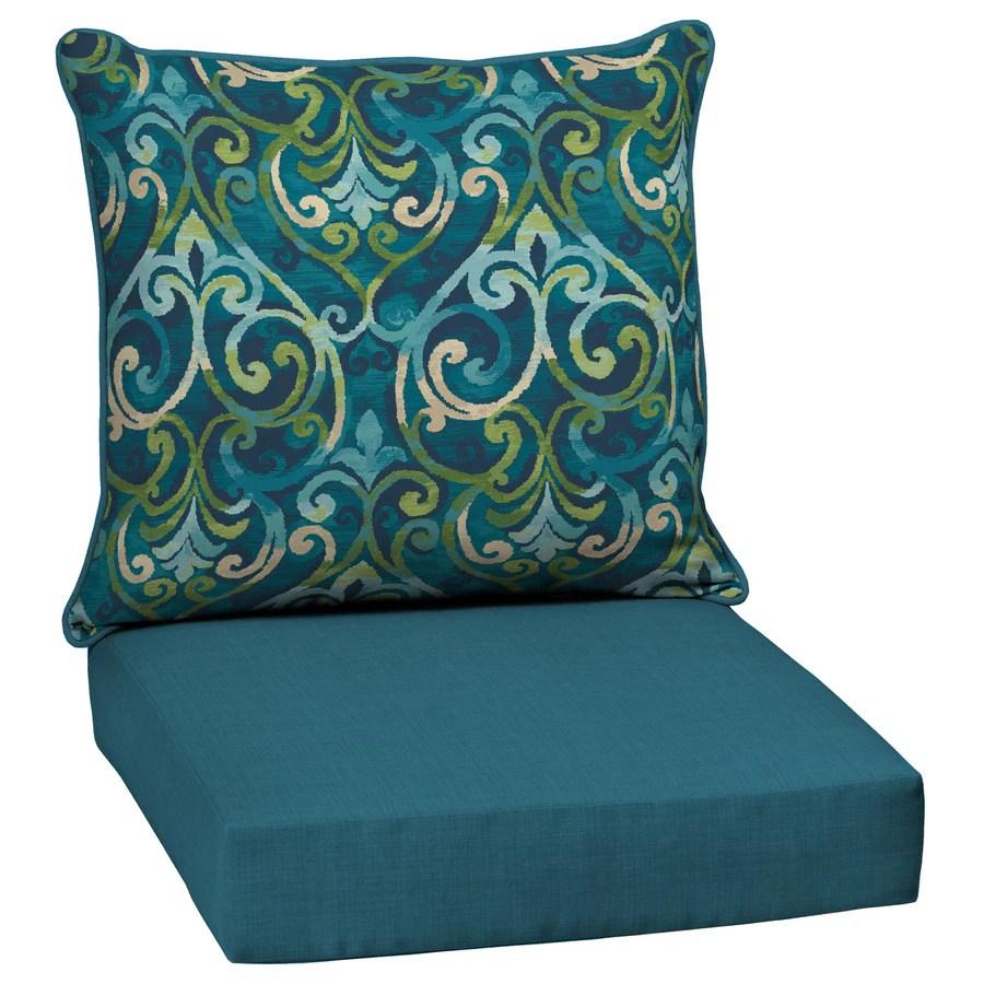 style selections 2 piece salito marine deep seat patio chair cushion