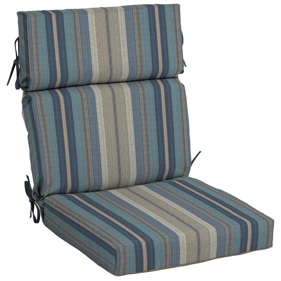 patio high back chair cushions power wheelchair controller allen roth stripe cushion for