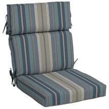 Allen Roth Stripe High Patio Chair Cushion