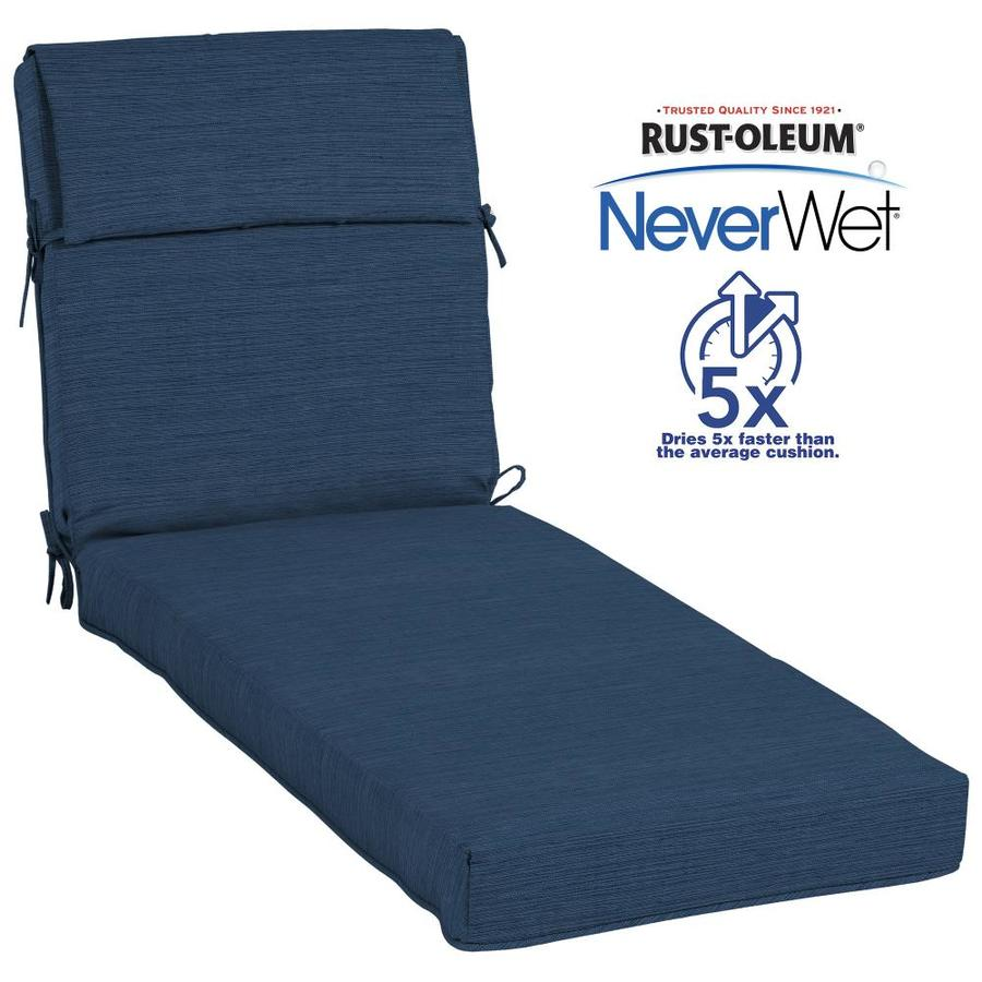 lounge chair cushions cheap black barrel allen roth neverwet 1 piece navy patio chaise cushion