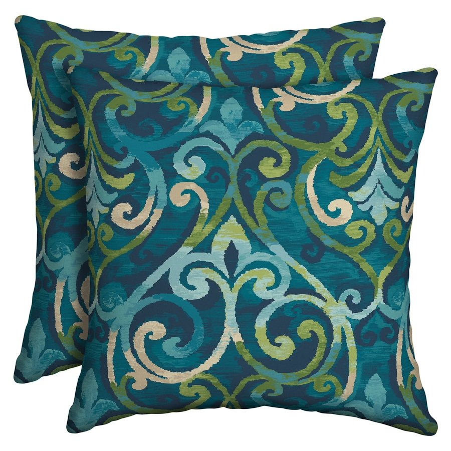 style selections 2 pack paisley salito marine square throw pillow lowes com
