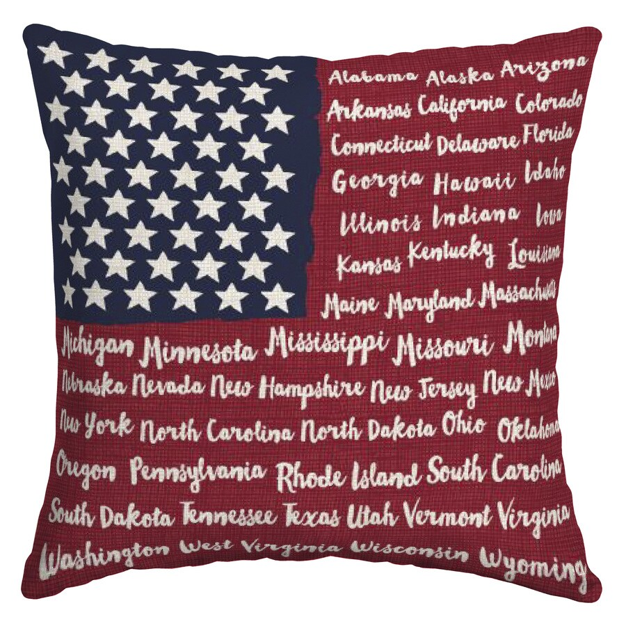arden outdoor solid square patriotic throw pillow