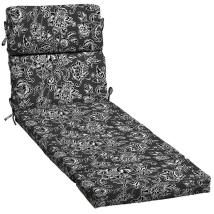 Garden Treasures Black And White Jacobean Patio Chaise