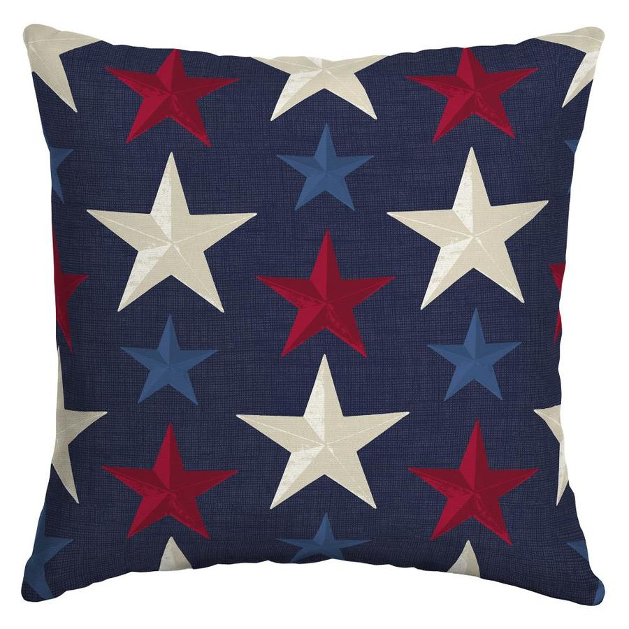 arden outdoor 6 pack solid patriotic stars square patriotic throw pillow