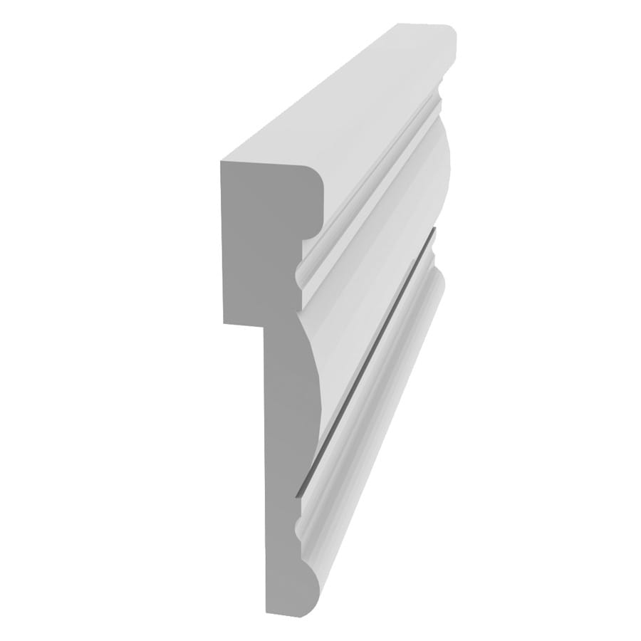 vinyl chair rail grey with ottoman evertrue 3 in x 8 ft prefinished wall panel moulding at lowes com
