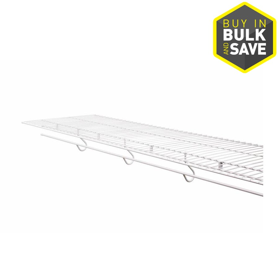 Shop Rubbermaid FreeSlide 8-ft x 16-in White Wire Shelf at