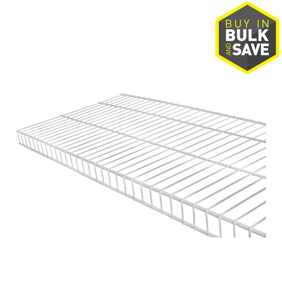 Rubbermaid Linen 12-ft x 16-in White Wire Shelf at Lowes.com