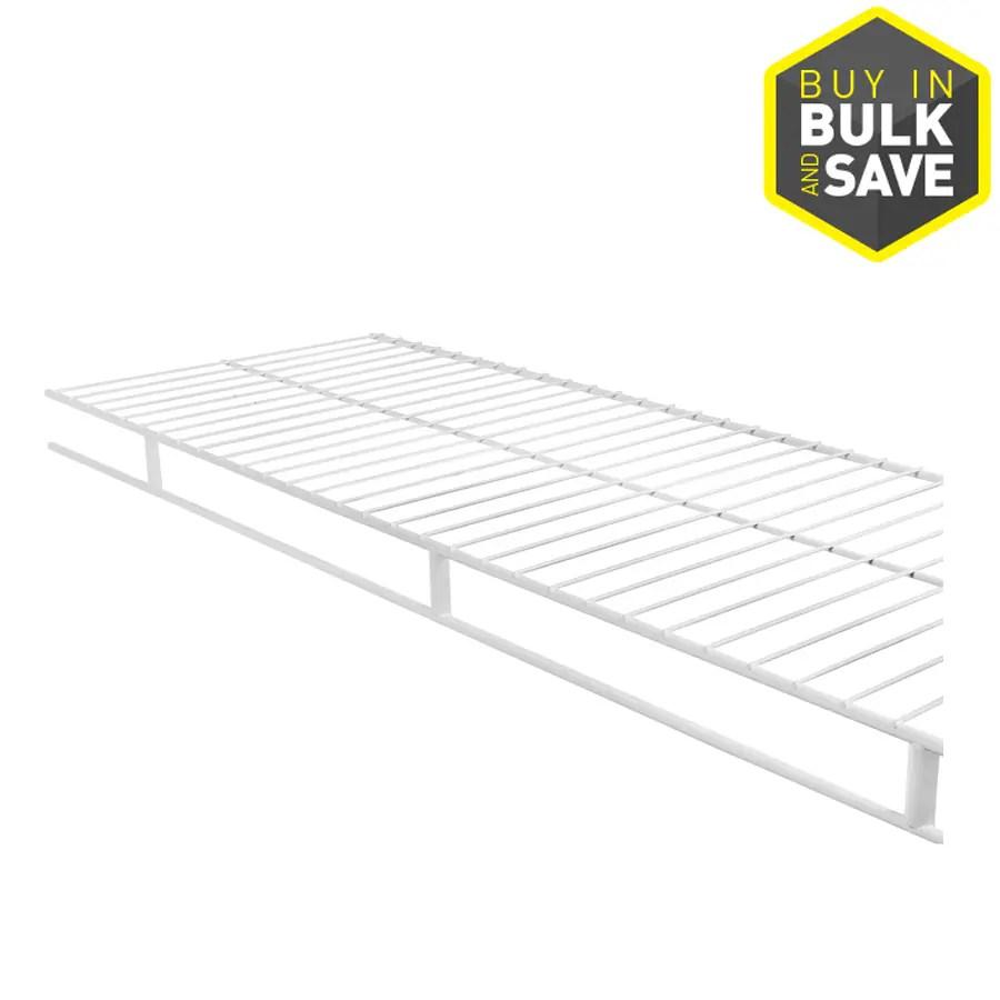 Shop Rubbermaid Wardrobe 12-ft x 12-in White Wire Shelf at
