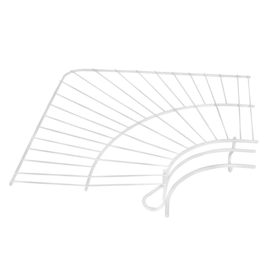 Shop Rubbermaid FreeSlide Corner 12-in White Wire Shelf at