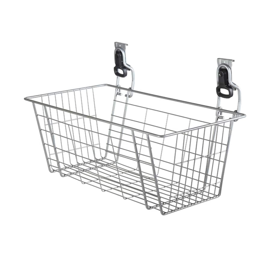 Shop Rubbermaid FastTrack 24-in W x 12.5-in H Silver Wire