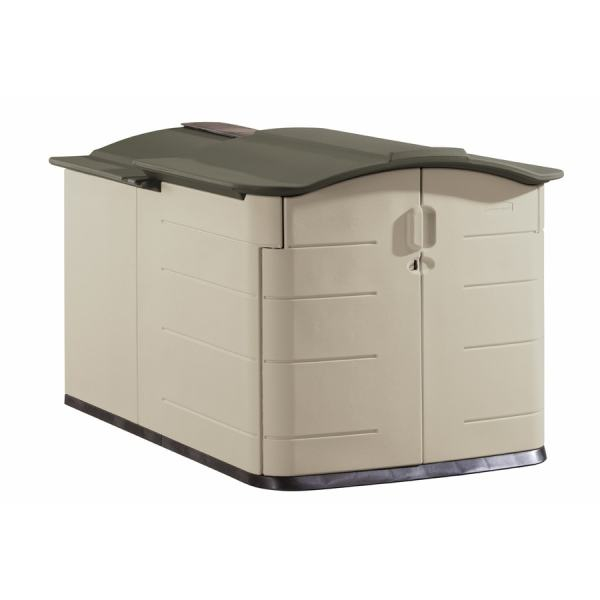 Rubbermaid 60-in X 79-in 54-in Olive Resin Outdoor Storage Shed