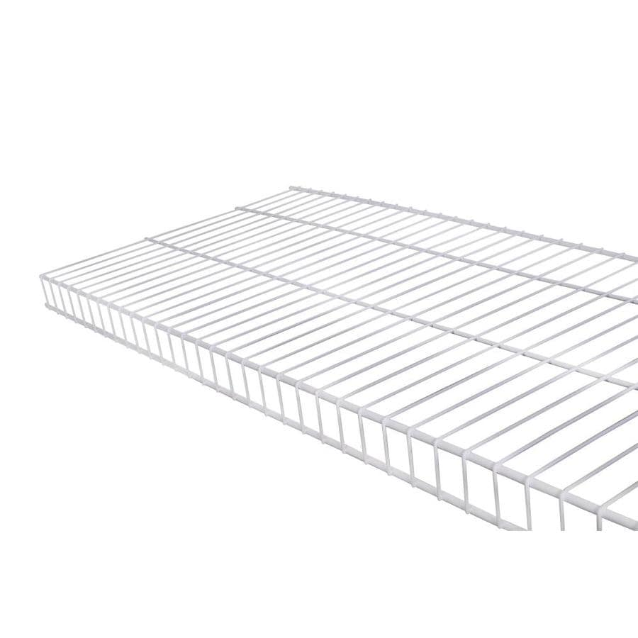 Rubbermaid Linen 6-ft L x 16-in D White Wire Shelf at