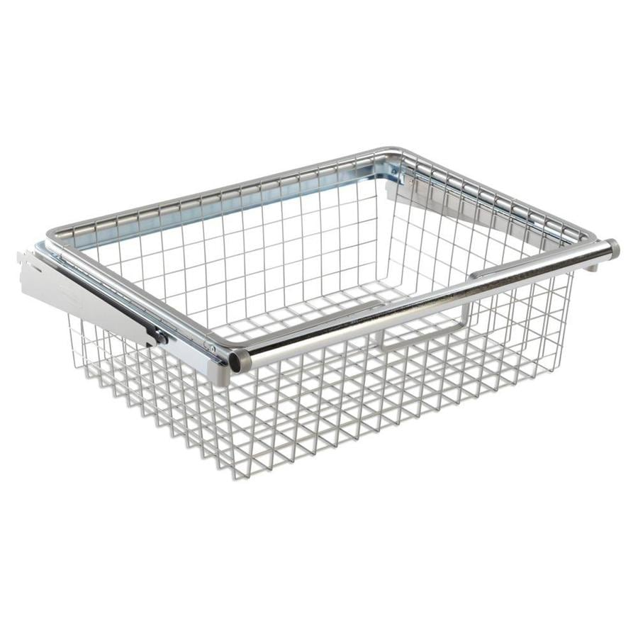 Rubbermaid FastTrack Silver Wire Sliding Basket at Lowes.com