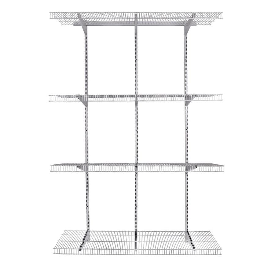 Rubbermaid Fasttrack Pantry 4 Ft To 4 Ft Satin Nickel