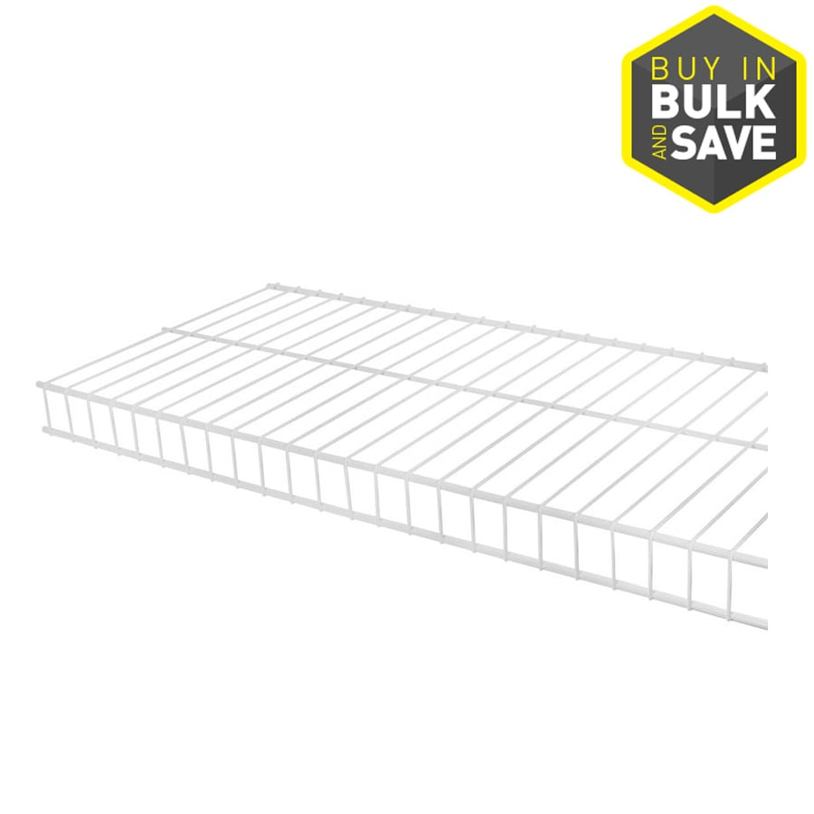 Shop Rubbermaid Linen 12-ft x 12-in White Wire Shelf at
