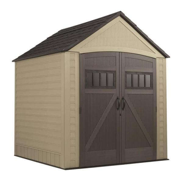 Rubbermaid Roughneck Gable Storage Shed Common 7-ft