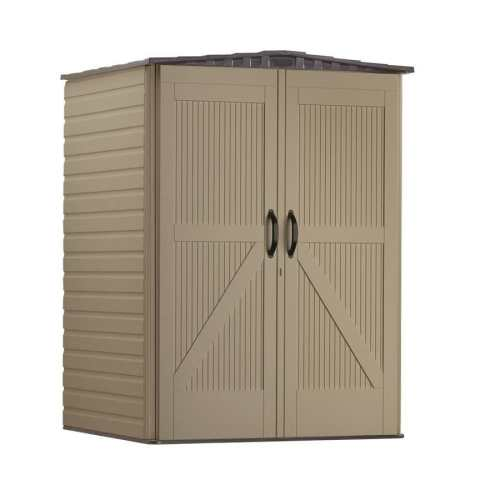 small resolution of rubbermaid roughneck storage shed common 5 ft x 4 ft actual