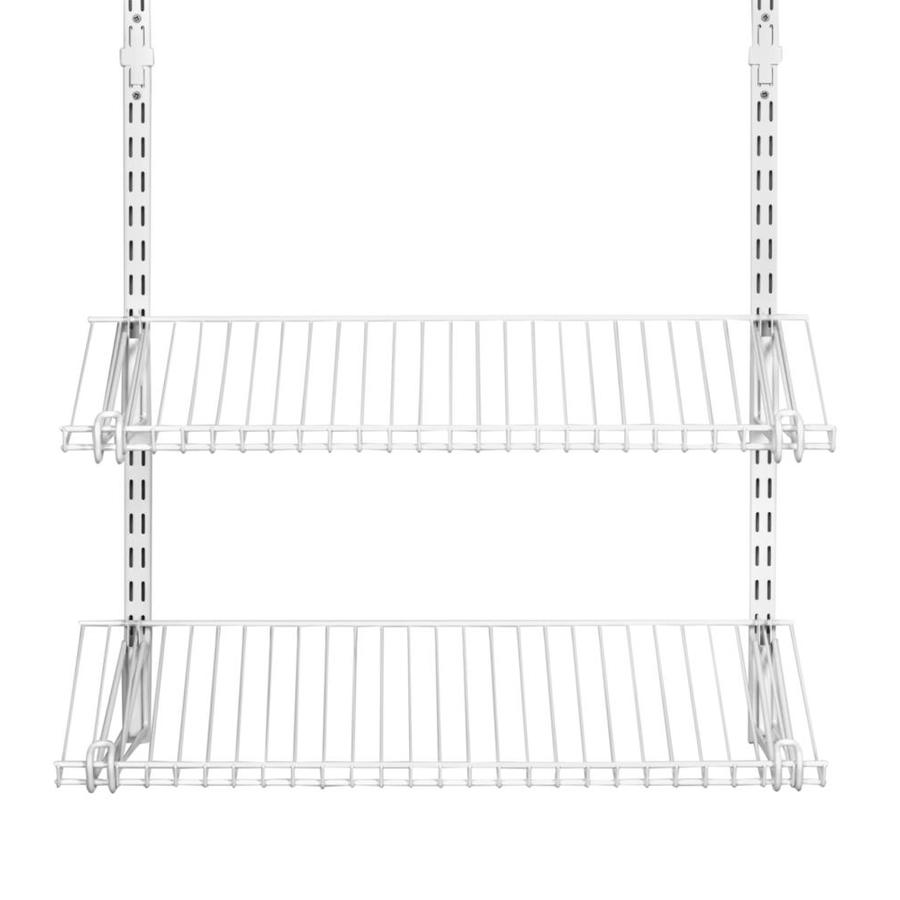 Shop Rubbermaid HomeFree White Wire Shoe Shelf Kit at