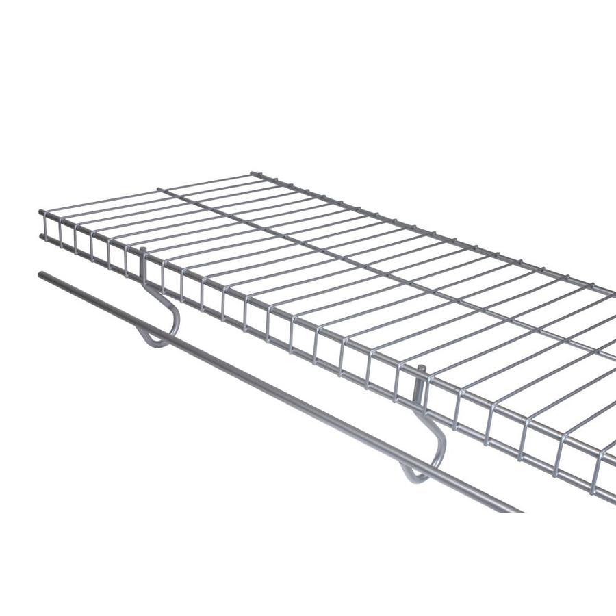 Shop Rubbermaid FreeSlide 6-ft L x 12-in D Satin Nickel