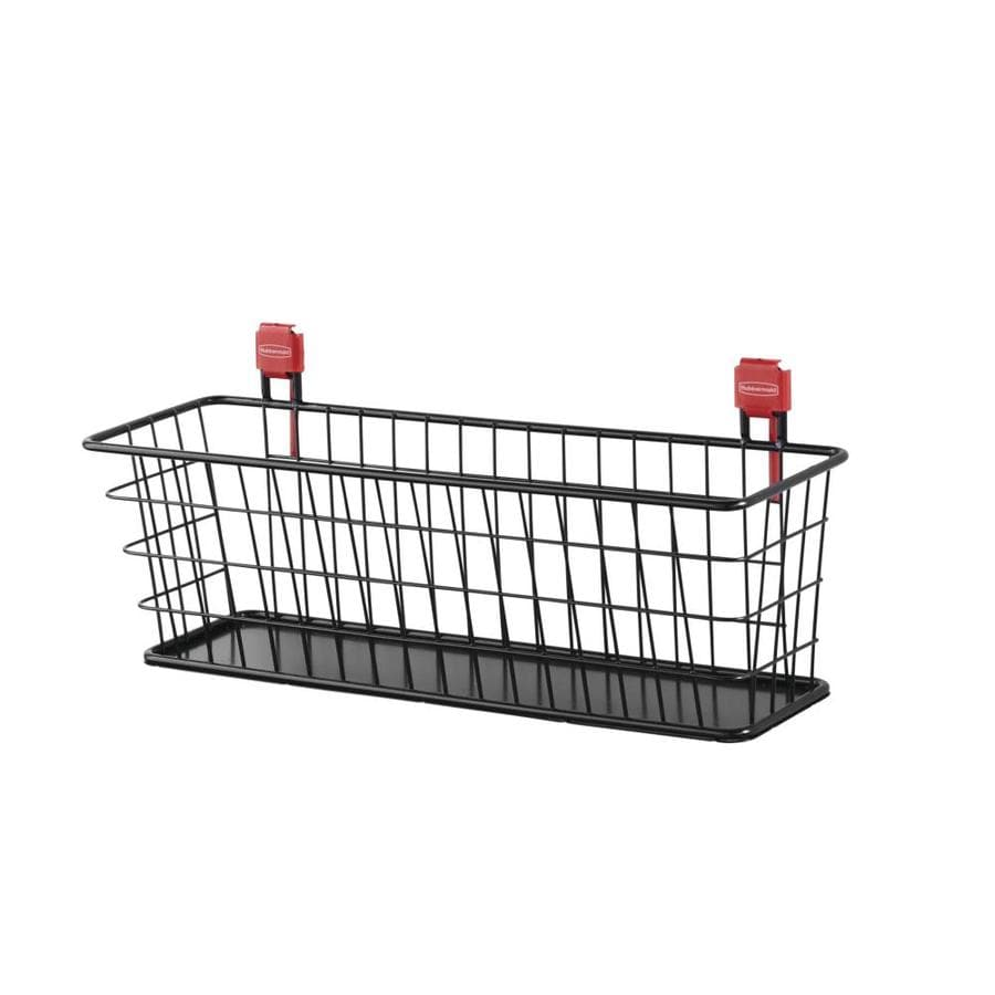 Shop Rubbermaid Black Steel Storage Shed Wire Basket at