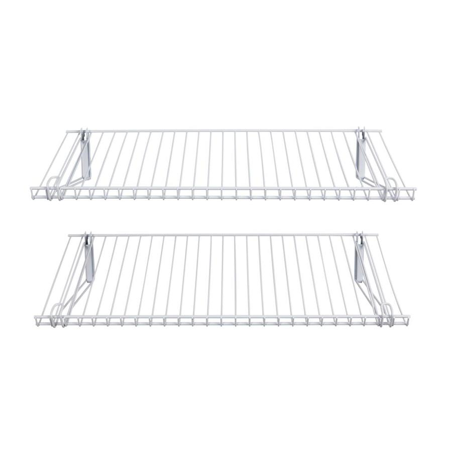 Rubbermaid FastTrack White Wire Shoe Shelf Kit at Lowes.com