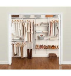 rubbermaid fasttrack 6 ft to 10 ft x 12 in white wire closet kit [ 900 x 900 Pixel ]