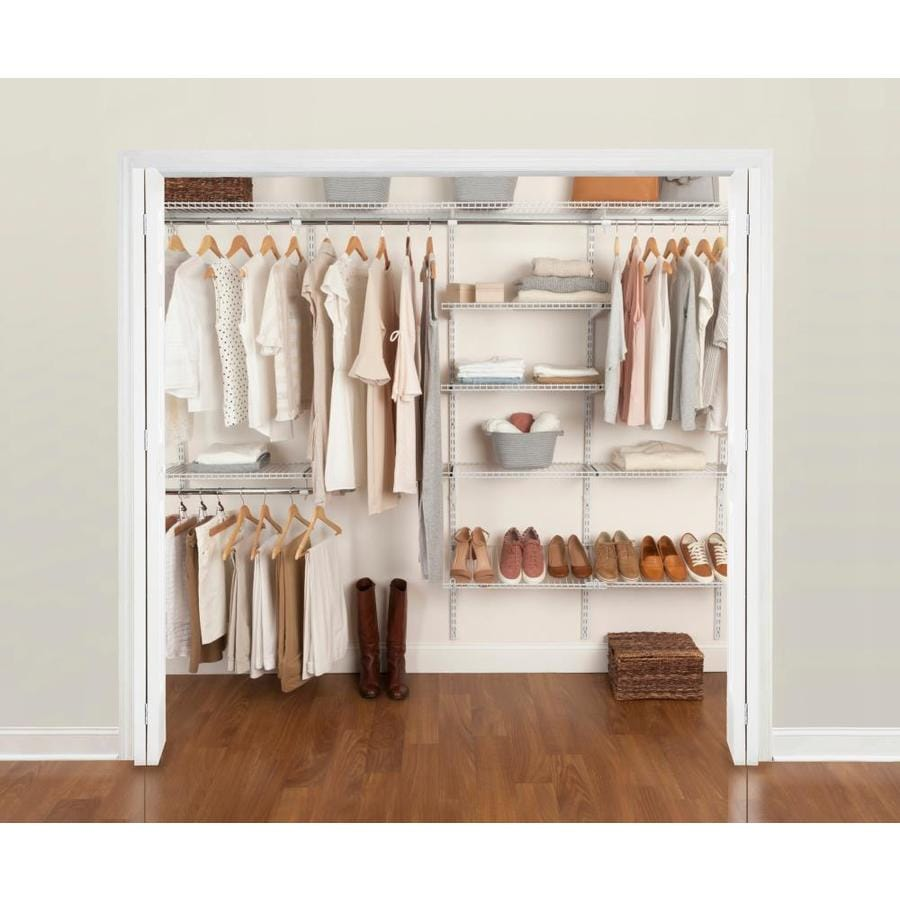medium resolution of rubbermaid fasttrack 6 ft to 10 ft x 12 in white wire closet kit