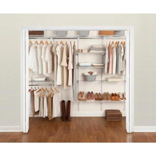 small resolution of rubbermaid fasttrack 6 ft to 10 ft x 12 in white wire closet kit