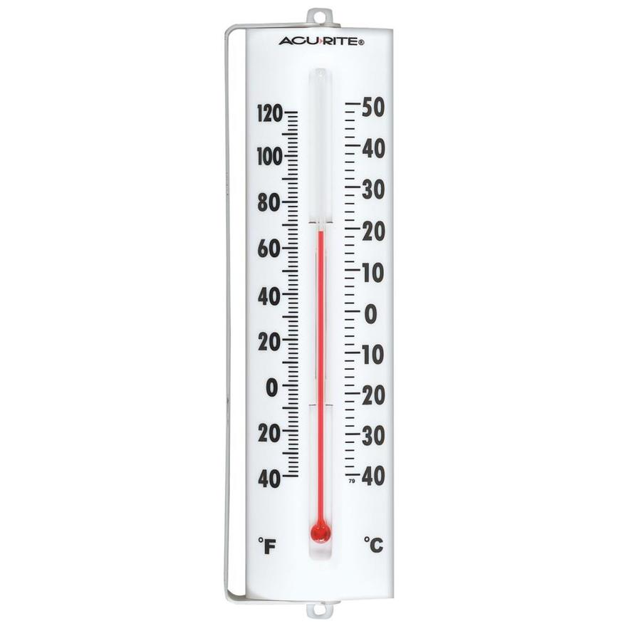 AcuRite Wireless Indoor/Outdoor White Thermometer at Lowes.com