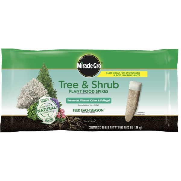 Miracle-gro Tree And Shrub Plant Food Spikes 15