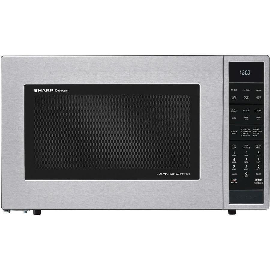 medium resolution of sharp 1 5 cu ft 900 watt countertop convection microwave stainless steel