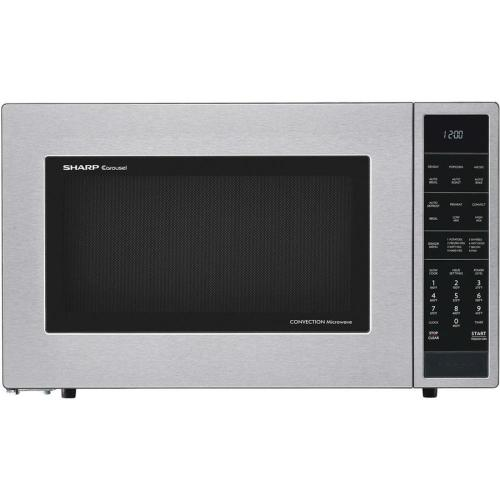 small resolution of sharp 1 5 cu ft 900 watt countertop convection microwave stainless steel