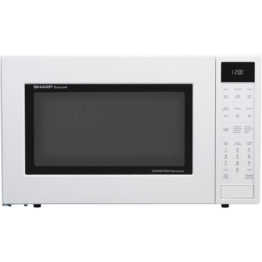 medium resolution of sharp 1 5 cu ft 900 watt countertop convection microwave white