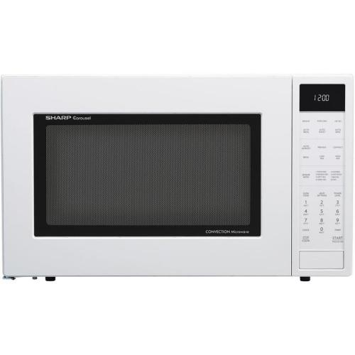 small resolution of sharp 1 5 cu ft 900 watt countertop convection microwave white