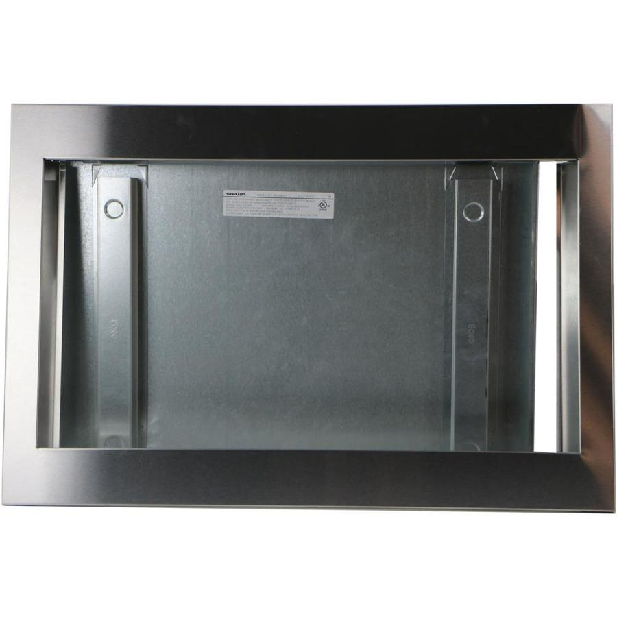 microwave trim kit stainless steel