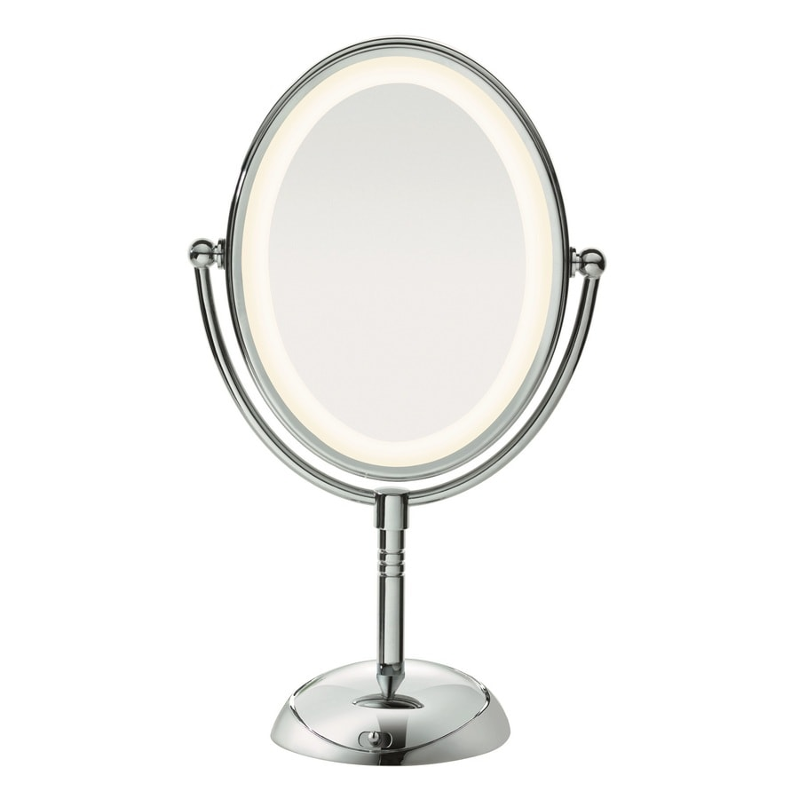 Conair Chrome Magnifying Countertop Vanity Mirror Light