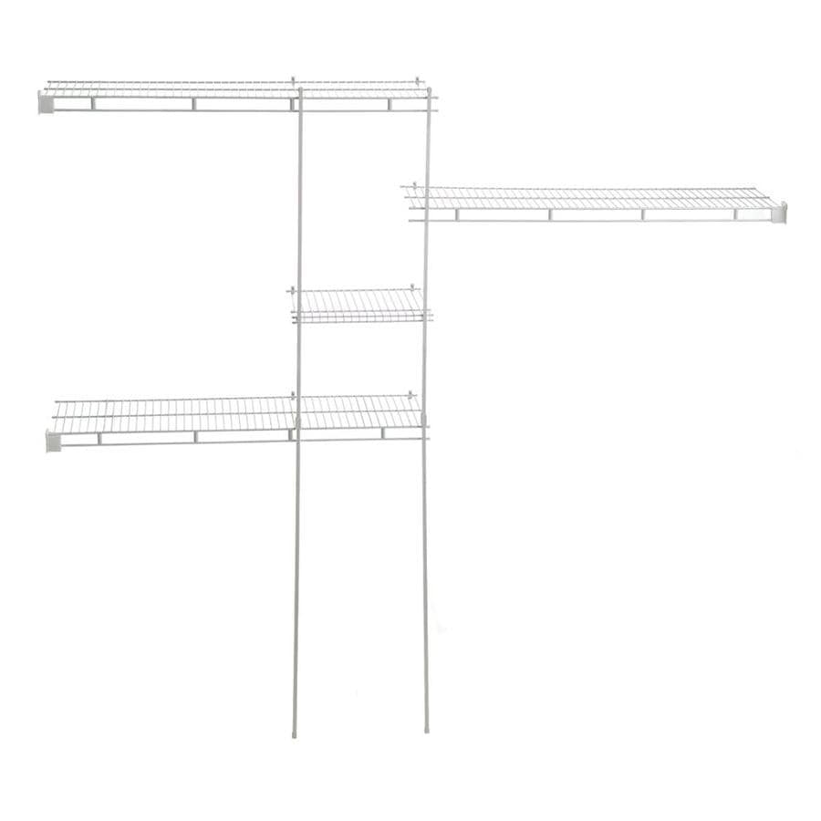 hight resolution of closetmaid shelftrack 48 ft to 55 ft x 96 in white wire closet kit